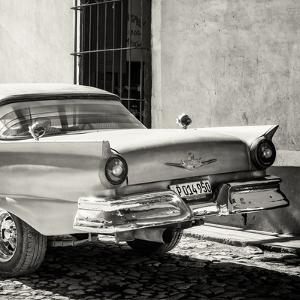Cuba Fuerte Collection SQ BW - Close-up of Classic Golden Car by Philippe Hugonnard