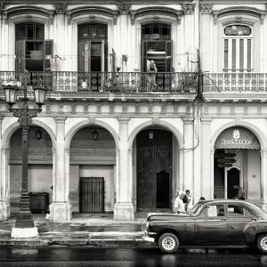 Cuba Fuerte Collection SQ BW - Colorful Architecture and Black Classic Car by Philippe Hugonnard
