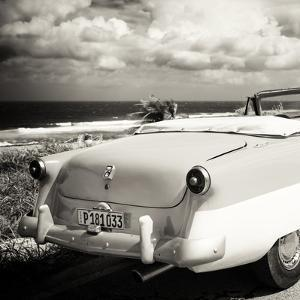 Cuba Fuerte Collection SQ BW - Old Classic Car Cabriolet by Philippe Hugonnard