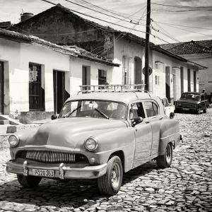 Cuba Fuerte Collection SQ BW - Old Taxi in Trinidad by Philippe Hugonnard