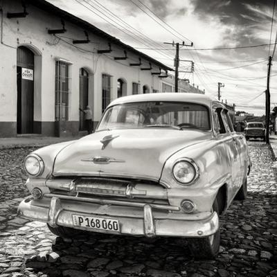 Cuba Fuerte Collection SQ BW - Plymouth Classic Car