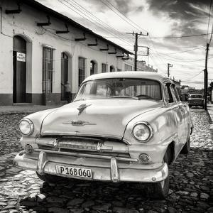 Cuba Fuerte Collection SQ BW - Plymouth Classic Car by Philippe Hugonnard