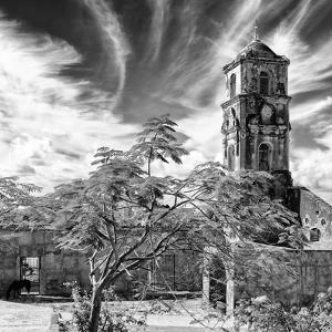 Cuba Fuerte Collection SQ BW - Santa Ana Church in Trinidad II by Philippe Hugonnard