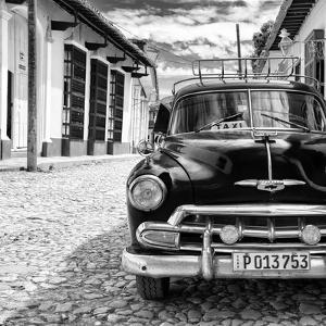 Cuba Fuerte Collection SQ BW - Taxi in Trinidad II by Philippe Hugonnard