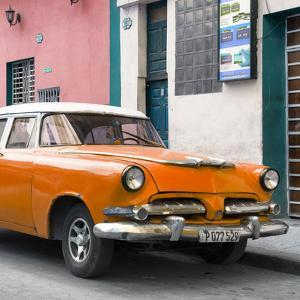 Cuba Fuerte Collection SQ - Classic Orange Car by Philippe Hugonnard