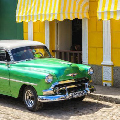 Cuba Fuerte Collection SQ - Close-up of Cuban Green Taxi