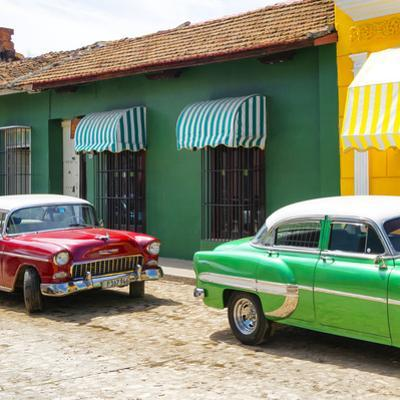 Cuba Fuerte Collection SQ - Cuban Green and Red Taxis