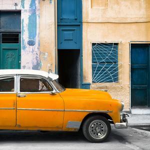 Cuba Fuerte Collection SQ - Havana's Orange Vintage Car by Philippe Hugonnard