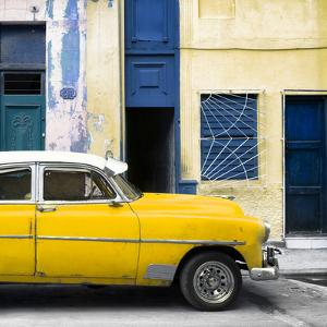 Cuba Fuerte Collection SQ - Havana's Yellow Vintage Car by Philippe Hugonnard