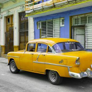 Cuba Fuerte Collection SQ - Old Cuban Yellow Car by Philippe Hugonnard