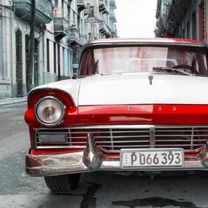 Cuba Fuerte Collection SQ - Old Ford Red Car by Philippe Hugonnard