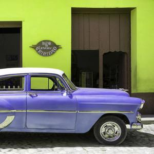 Cuba Fuerte Collection SQ - Retro Mauve Car by Philippe Hugonnard