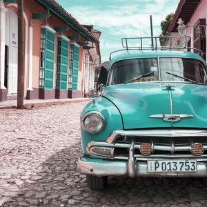 Cuba Fuerte Collection SQ - Turquoise Taxi in Trinidad by Philippe Hugonnard