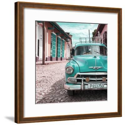 Cuba Fuerte Collection SQ - Turquoise Taxi in Trinidad