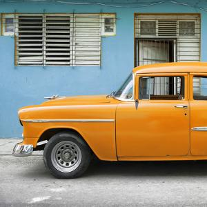 Cuba Fuerte Collection SQ - Vintage Cuban Orange Car by Philippe Hugonnard