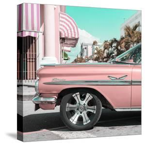 Cuba Fuerte Collection SQ - Vintage Pink Car by Philippe Hugonnard
