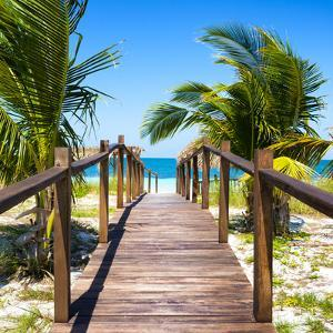 Cuba Fuerte Collection SQ - Wooden Jetty on the Beach by Philippe Hugonnard