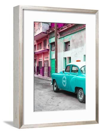 Cuba Fuerte Collection - Turquoise Taxi Car in Havana