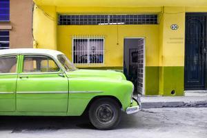 Cuba Fuerte Collection - Vintage Green Car of Havana by Philippe Hugonnard