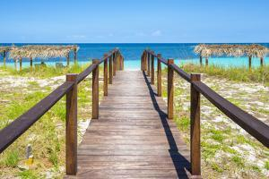 Cuba Fuerte Collection - Wooden Jetty on the Beach III by Philippe Hugonnard