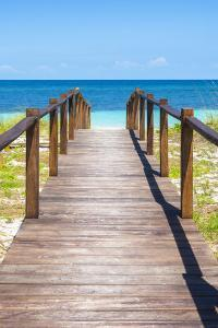 Cuba Fuerte Collection - Wooden Jetty on the Beach IV by Philippe Hugonnard