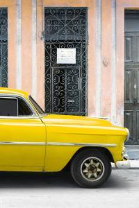 Cuba Fuerte Collection - Yellow Classic Car by Philippe Hugonnard