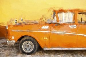 Cuba Painting - Orange Sensation by Philippe Hugonnard