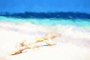 Cuba Painting - The Sea by Philippe Hugonnard