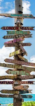 Destination Signs - Key West - Florida by Philippe Hugonnard