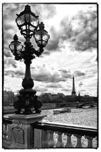 Detail of the Pont  Alexander III bridge - with the Eiffel Tower in the background - Seine River - by Philippe Hugonnard