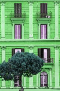 Dolce Vita Rome Collection - Green Building Facade II by Philippe Hugonnard