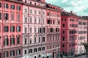Dolce Vita Rome Collection - Italian Dark Pink Facades by Philippe Hugonnard