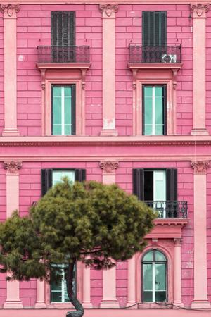 Dolce Vita Rome Collection - Pink Building Facade II by Philippe Hugonnard