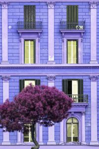 Dolce Vita Rome Collection - Purple Building Facade II by Philippe Hugonnard