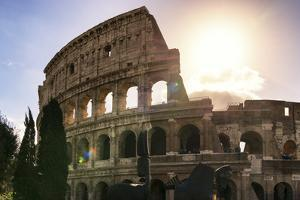 Dolce Vita Rome Collection - The Colosseum at Sunrise by Philippe Hugonnard