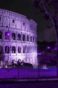 Dolce Vita Rome Collection - The Colosseum Purple Night II by Philippe Hugonnard