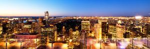 Downtown at Night, Central Park from Top of the Rock Oberservation Deck, Rockefeller Center, NYC by Philippe Hugonnard