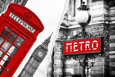 Dual Torn Posters Series - London - Paris