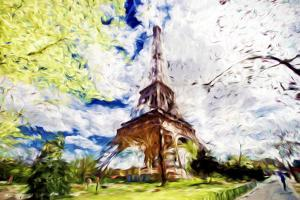 Eiffel Colors - In the Style of Oil Painting by Philippe Hugonnard