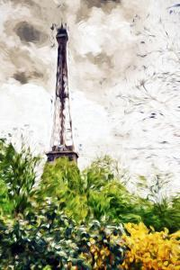 Eiffel Flowers - In the Style of Oil Painting by Philippe Hugonnard