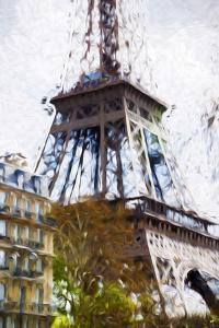 Eiffel Paris - In the Style of Oil Painting by Philippe Hugonnard