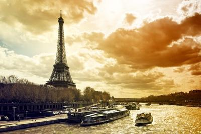 Eiffel Tower and the Seine River - Paris - France by Philippe Hugonnard