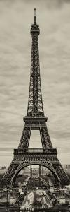 Eiffel Tower, Paris, France - Sepia - Tone Vintique Photography by Philippe Hugonnard