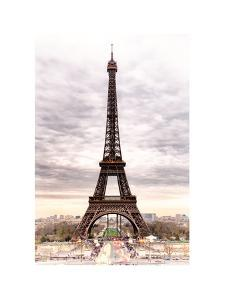 Eiffel Tower, Paris, France - White Frame and Full Format by Philippe Hugonnard