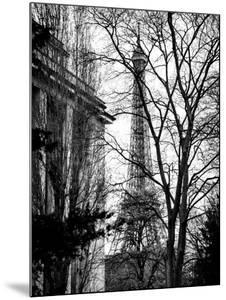 Eiffel Tower View of Winter Trocadero - Paris, France - Black and White Photography by Philippe Hugonnard