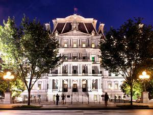 Eisenhower Executive Office Building Entrance (Eeob), West of the White House, Washington D.C, US by Philippe Hugonnard