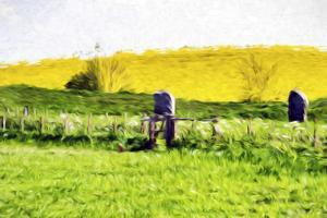 English Meadow - In the Style of Oil Painting by Philippe Hugonnard