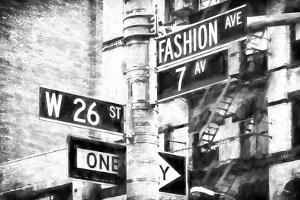 Fashion Avenue Sign by Philippe Hugonnard