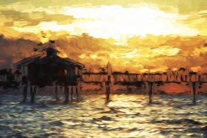 Fishing Pier - In the Style of Oil Painting by Philippe Hugonnard