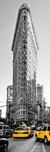 Flatiron Building with Yellow Cabs, Fifth Avenue, Broadway, Manhattan, New York by Philippe Hugonnard
